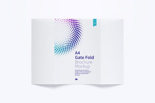 Open gate fold brochure mockup exterieur