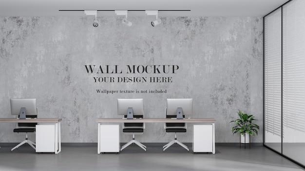 Open ruimte kantoor mockup muur