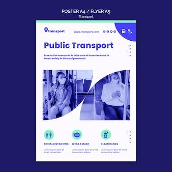 Openbaar vervoer poster sjabloon