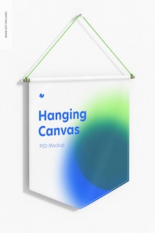 Opknoping canvas wimpel mockup