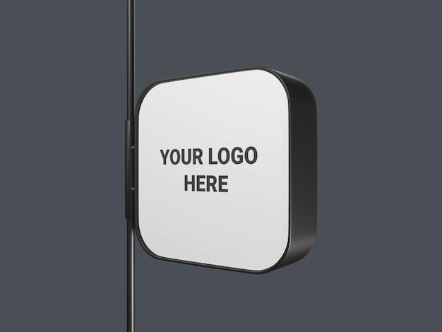 Opknoping vierkante uithangbord mockup geïsoleerd
