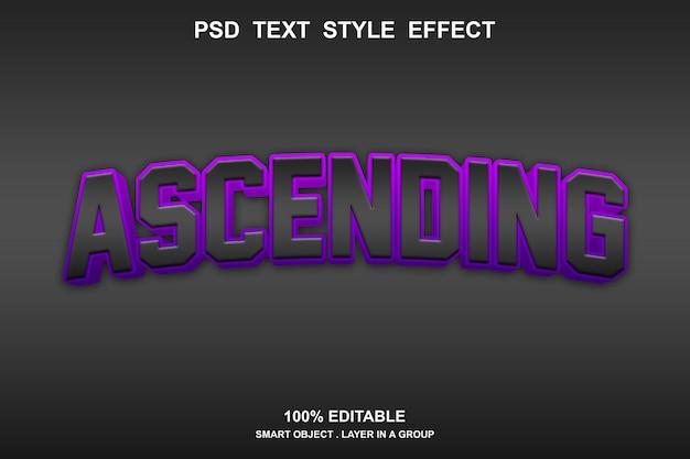 Oplopende teksteffectsjabloon