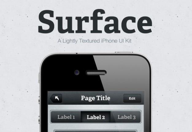 Oppervlak iphone kit
