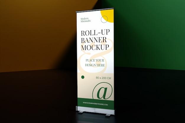 Oprolbare staande banner mockup