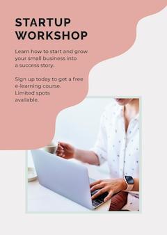 Opstart workshop poster sjabloon psd