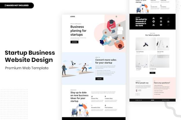 Opstarten zakelijke website ontwerpsjabloon