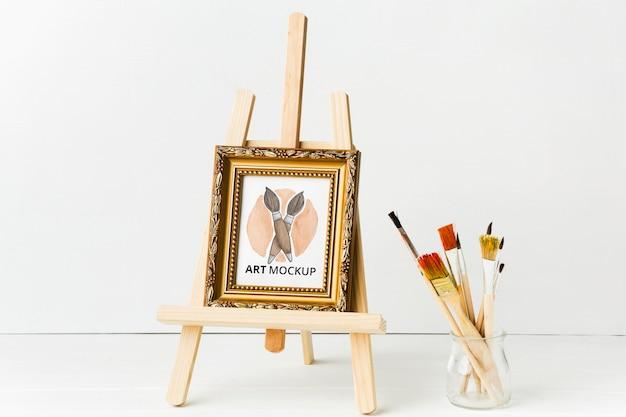 Opstelling met frame en canvas standaard