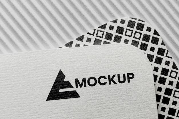 Opstelling van branding mock-up op kaart