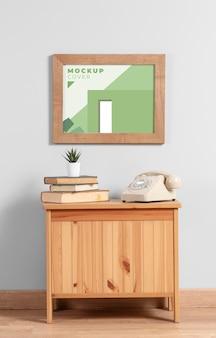 Opstelling van modern mock-up frame