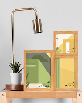 Opstelling van moderne mock-up frames
