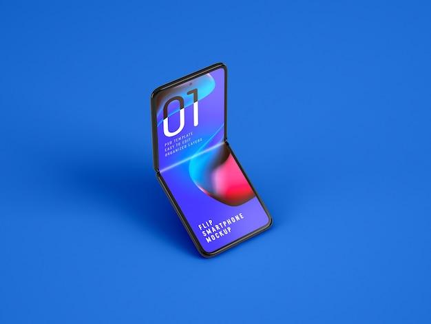 Opvouwbare smartphone-mockup