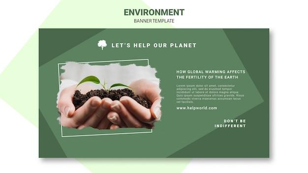 Opwarming van de aarde beïnvloedt de planten banner sjabloon