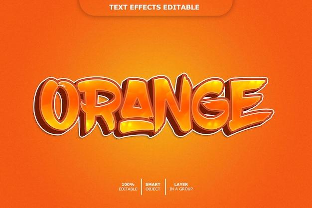 Oranje 3d-tekst stijl effect