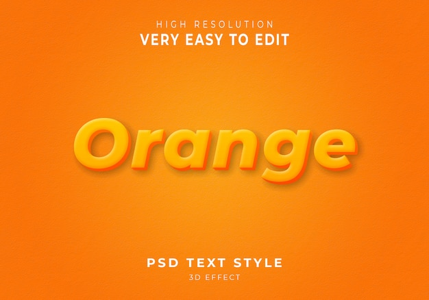 Oranje 3d-tekststijl
