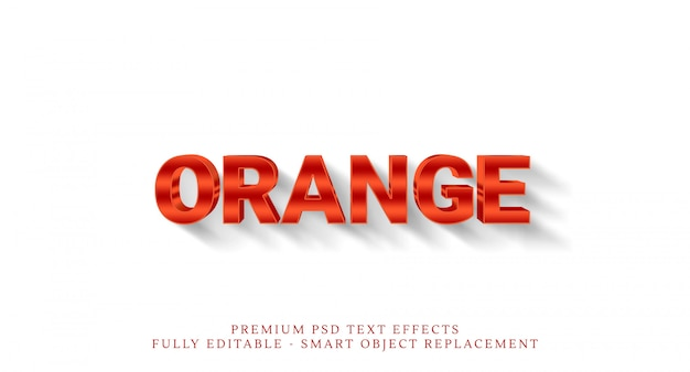Oranje 3d tekststijleffect