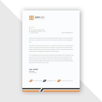 Oranje briefpapier template