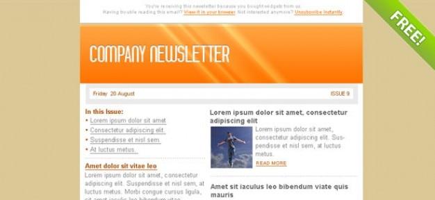 Oranje e-mail marketing nieuwsbrief template
