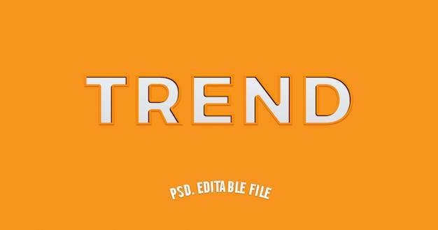 Oranje en wit papier gesneden teksteffect