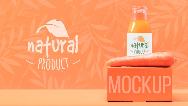 Oranje natuurlijke smoothie mock-up