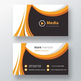 Oranje professionele zakelijke psd-visitekaartjesjabloon