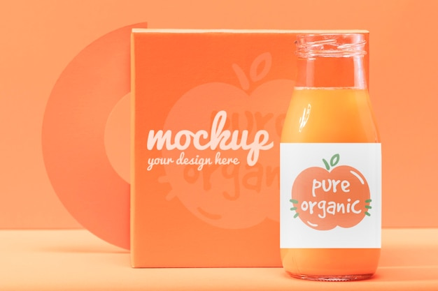 Oranje smoothie mock-up design