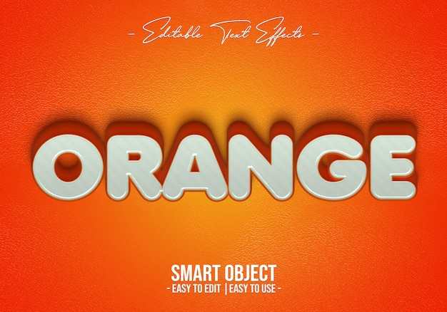 Oranje-tekst-stijl-effect