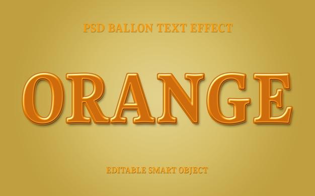 Oranje teksteffect