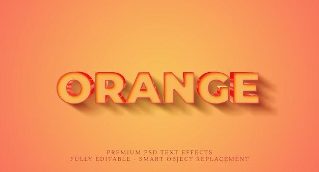 Oranje tekststijleffect psd, premium psd teksteffecten