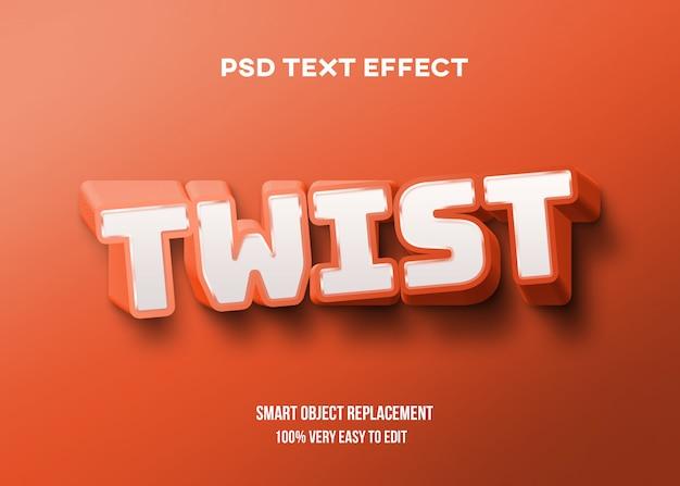 Oranje vetgedraaid teksteffect