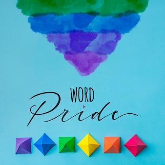 Origami modella il modello del gay pride