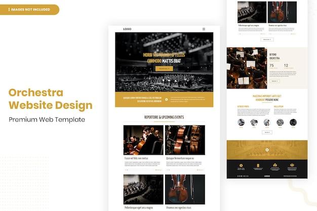 Orkest website pagina ontwerpsjabloon