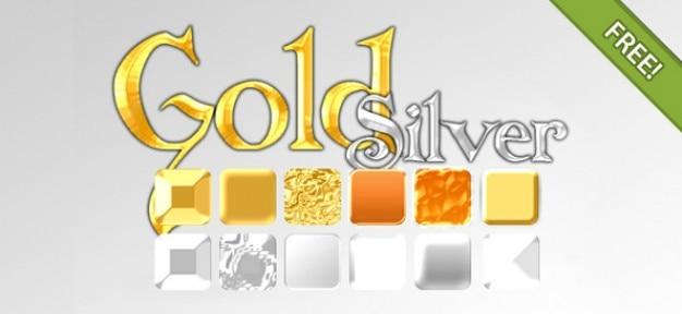 Oro y plata estilos efecto