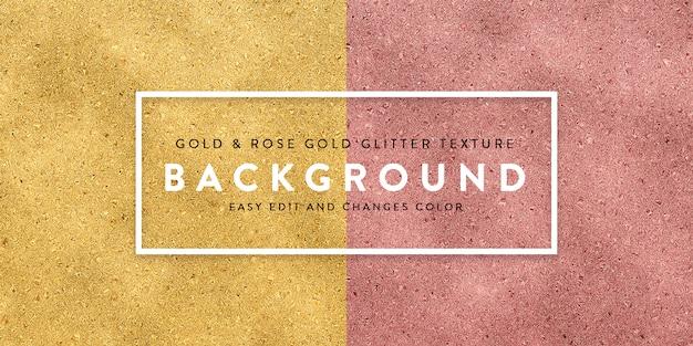 Oro rosa y fondo de oro