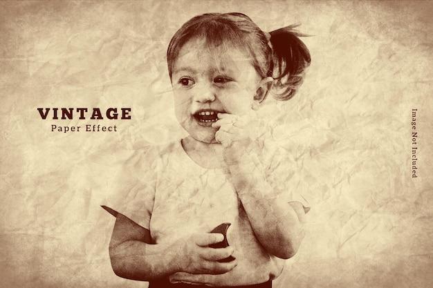 Oud papier foto-effectsjabloon