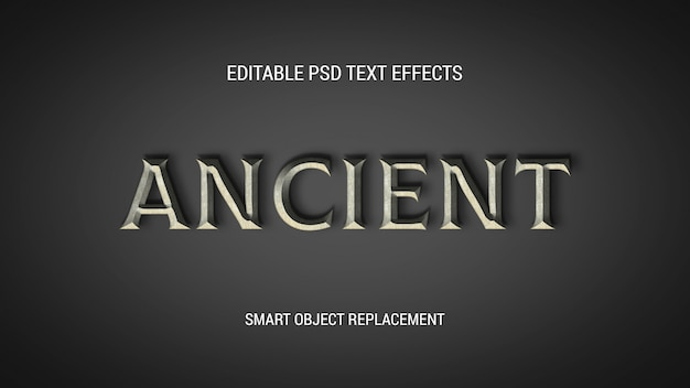 Oude bewerkbare teksteffecten