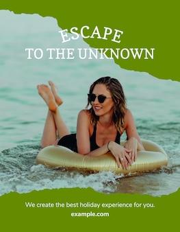 Outdoor avontuur flyer sjabloon psd voor reisbureau
