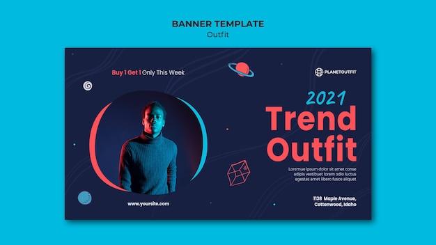 Outfit concept sjabloon voor spandoek