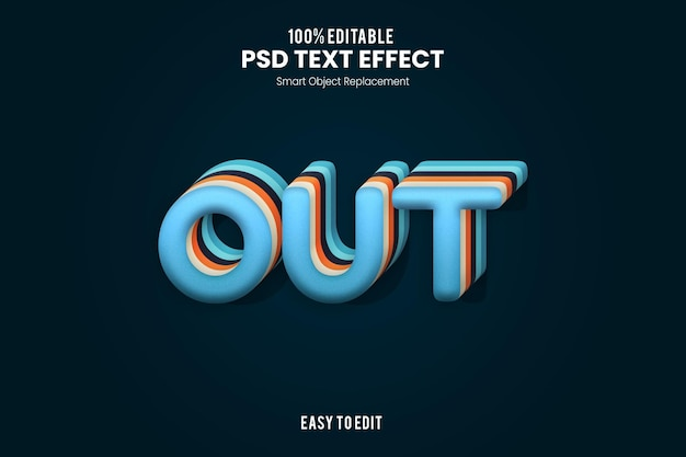 Outtext-effect