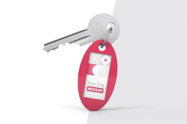 Ovale sleutelhanger mockup