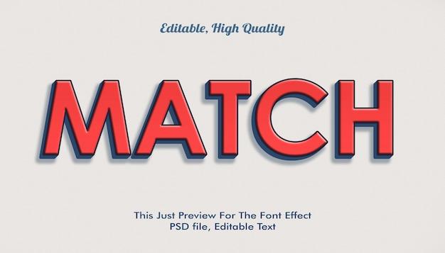 Overeenkomen met het effect van het lettertype-effect