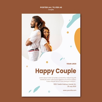 Paar concept poster sjabloon