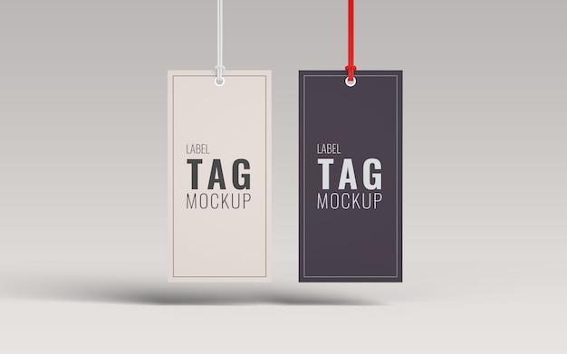 Paar label label mockup vooraanzicht