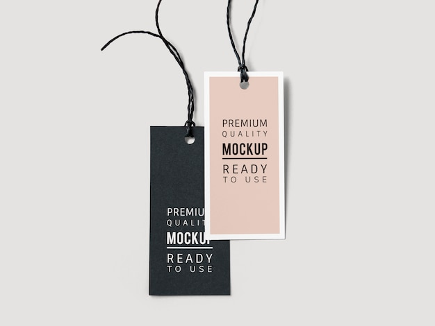 Paar mockups met labellabels