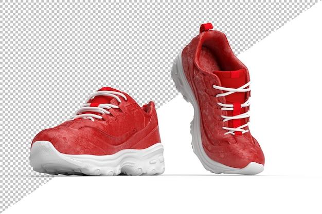 Paar stijlvolle schoenen in 3d-rendering geïsoleerd