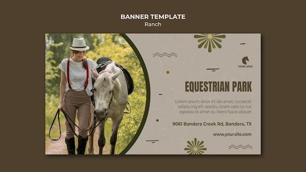 Paardenboerderij sjabloon banner