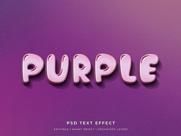 Paars 3d-teksteffect