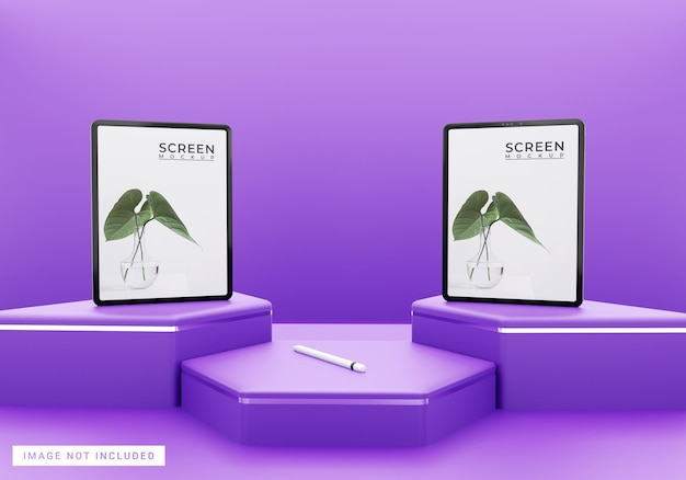 Paars eenvoudig tabletmodel