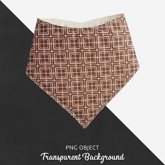 Paarse gevormde bandana voor baby of kinderen op transparante achtergrond