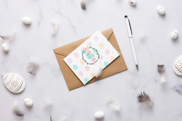 Paaskaart met envelop