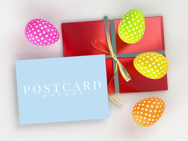 Paasvakantie creatieve mockup van briefkaart